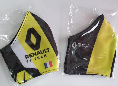 Tres (3) Tapabocas Renault  Formula1
