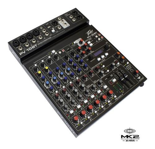 Peavey Pv-10 Bt Consola Mixer 10 Ch Bluetooth Usb Efx Pv10bt