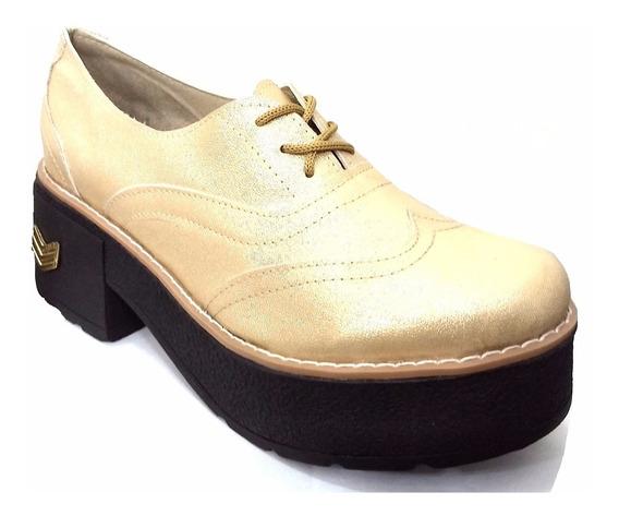 Zapatos Altos De Mujer De Charol Y Dorado