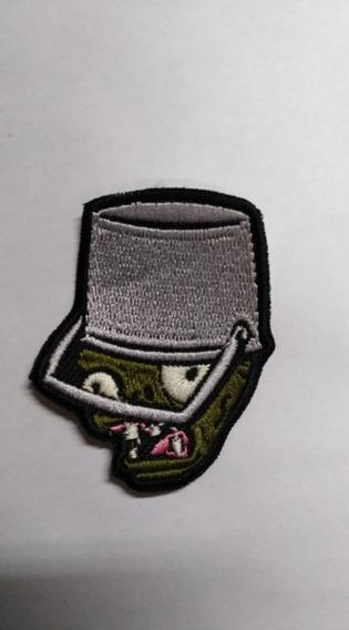Parche Bordado Zombie Con Casco Plantas Vs. Zombies
