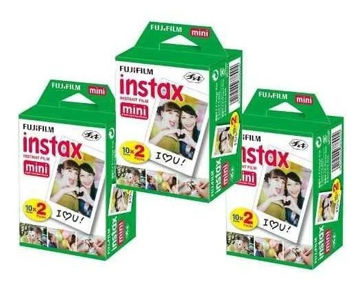 Filme Papel Para Instax Mini 7, 8 E 9 - 60 Fotos 5,4 X 8,6