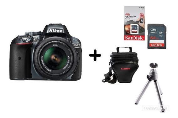 Câmera Nikon D5300 C/ 18-55mm + 64gb + Bolsa + Tripé