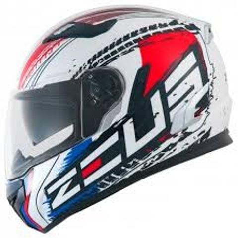Capacete Zeus 813 An13 Solid White/red