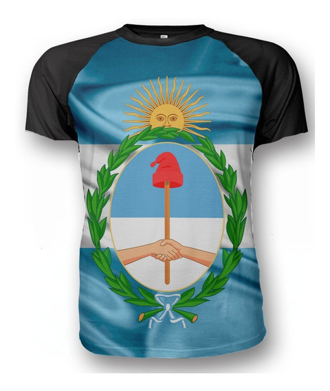 Remera Escudo Nacional Bandera Argentina Homenaje Patrio
