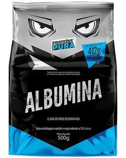 Albumina Desidratada 500g Em Pó - Proteína Pura - Sabores