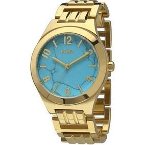 Kit Relógio Euro Feminino Com Pulseira Eu2033ag/k4a