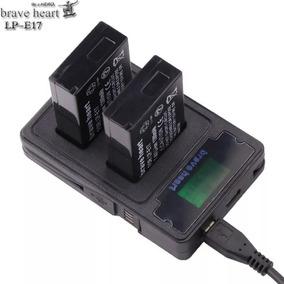 Bateria 2x Lpe17 + Carregador Duplo Canon T6s T6i M3 M6 T7i