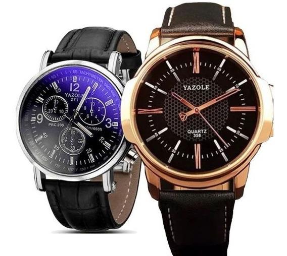 Kit 2 Relógios Masculinos De Pulso