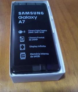 Samsung Galaxy A7 Sm-a750g 4gb 64gb Dual Tela 6.0 Preto Novo