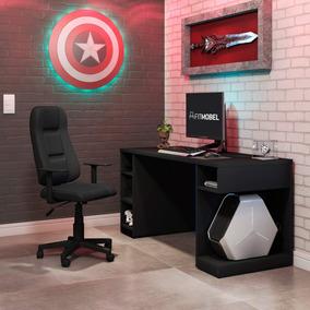 Conjunto Mesa Gamer Pro 5 Nichos E Cadeira Gamer Onix Edwt