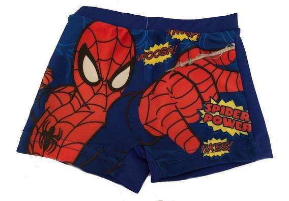 Malla Boxer Tipo Zunga Spiderman Hombre Araña Hasta 1 Año