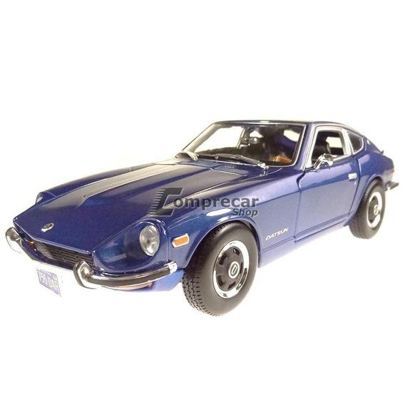 Miniatura Datsun 240z 1971 Azul Maisto 1/18