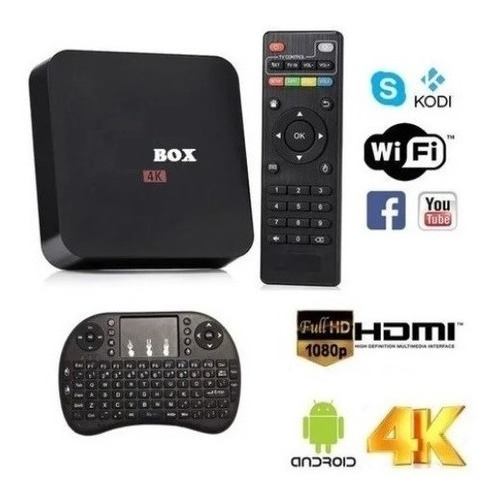 Tv Box Convertidor A Smart Tv 8gb Ram + 128gb Rom + Teclado