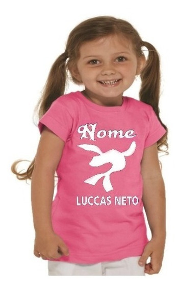 Camiseta Personalizada Infantil Luccas Neto Super Foca