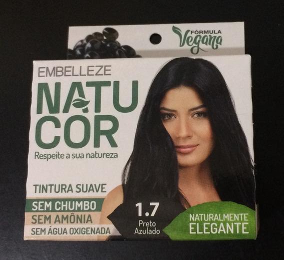 Tinta De Cabelo Vegana Natucor Embelleze Preto Frete Grátis