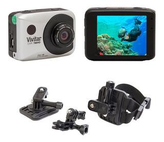 Câmera Filmadora De Ação Full Hd Dvr786 Vivitar + Suporte