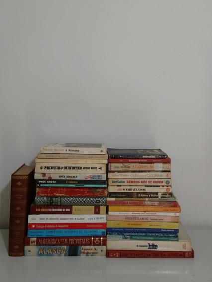 Lote 34 Livros Promocional Sebo Edições Raras Antigos