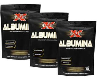 Combo 3x Albuminas Xlab 1kg Sabores Xlabs