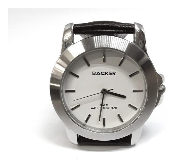 Relógio Backer 388 Original Usado Pulseira De Couro