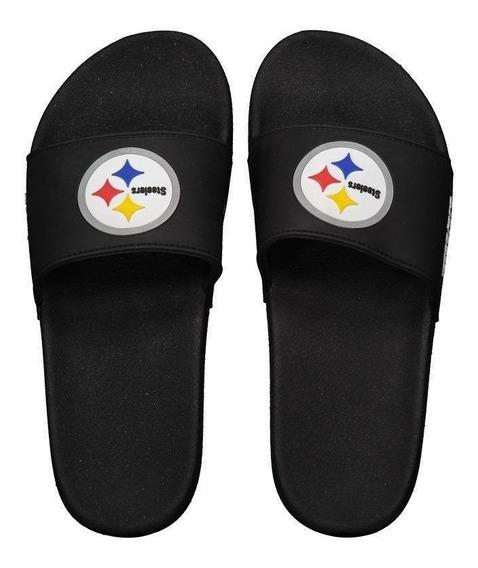 Chinelo Nfl Pittsburgh Steelers Preto