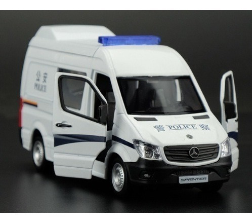 Miniatura Sprinter Mercedes - Benz Policia Metal Escala 1:36