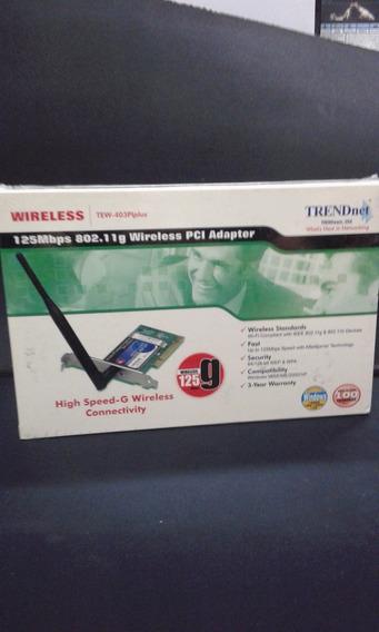 Placa De Red Trendnet Tew-403 Pi Plus 125g Nuevo En Caja!