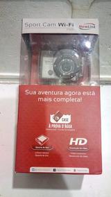 Camera Sport Cam Newlink Wi-fi A Prova Água + Acessórios