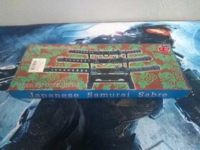 Kit Mini Espada Katana Samurai Ninja Sabre Japones 3 Peças