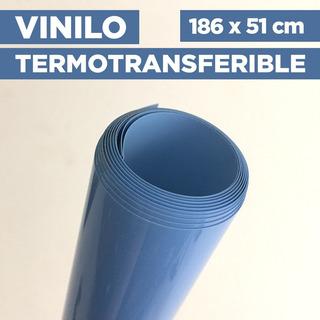 Vinilo Termotransferible Flex Color Celeste 186 X 51 Cm
