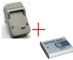 Kit Bateria Bk1 + Carregador Bk1 P/ Camera Sony