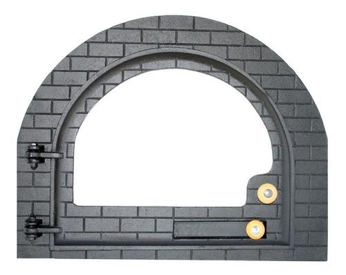 Imagem 1 de 4 de Porta Para Forno A Lenha   Modelo Iglu Vidro