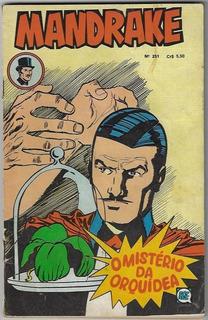 1977 Hq Quadrinhos Mandrake Nº 251 Editora Rge