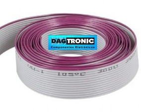 Cabo Flat 26 Vias X 28awg Cinza Rolo C/ 76,5mts P/ Latch