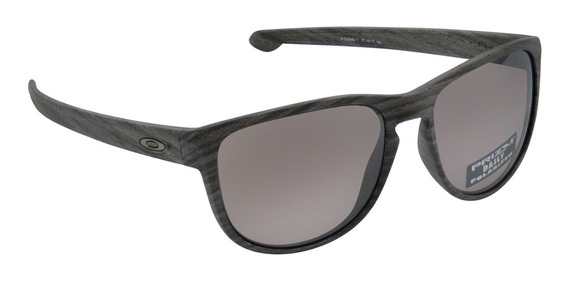 Óculos Oakley Sliver R Woodgrain Prizm Polarizado Chumbo