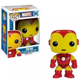 Funko Pop Iron Man Bobble Marvel 04 Figura Muñeco Original