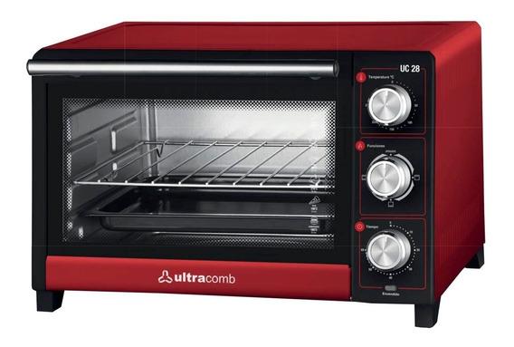 Horno Electrico Ultracomb Uc-28 1500w 28lts Rojo Pce