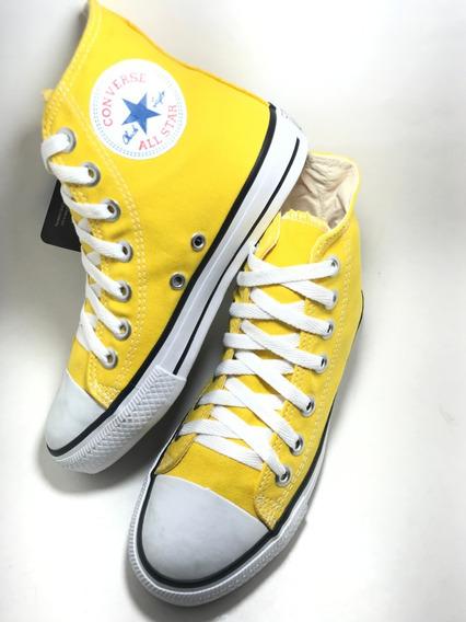 Tenis Converse All Star Hi Bota Amarelo Mostard