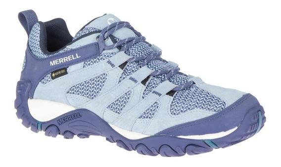Zapatos Mujer Merrell Alverstone Gtx Blue Stone Hiking Y