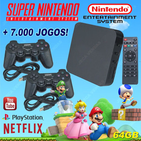 Super Retro Box - Video Game Retro Com 7000 Jogos - 64gb