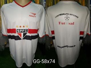 Camisa São Paulo Penalty Treino Escolinha Futsal Anos 2000