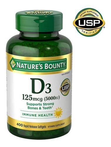 Vitamina D3 Natures Bounty 400 Cap Bl - Unidad a $1