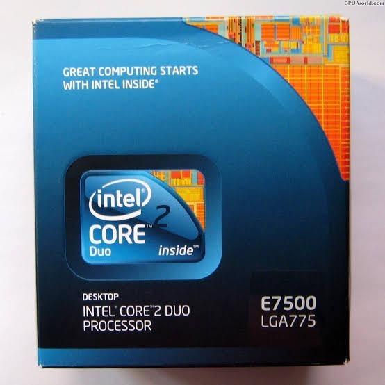 Processador Intel Core 2 Duo E7500 Cache 3mb 2,93ghz Lga 775