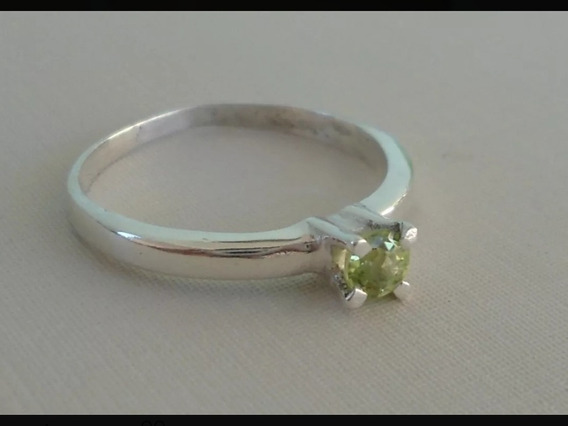 3 Lindos Anéis Solitários Em Prata 950 Com Pedra Natural