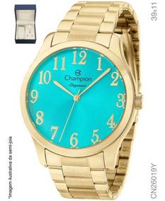 Relógio Champion Feminino + Conjunto Semi Joia Cn26019y
