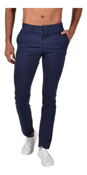 Pantalón Slim Fit Tommy Azul Mw0mw03441-455 Hombre