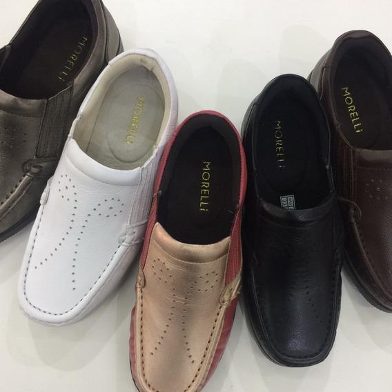 Sapatos Femininos Conforto Ortopédico Em Couro Sucesso 1102