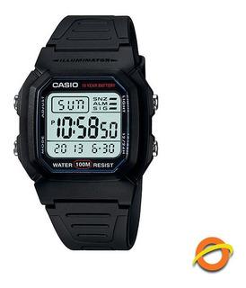 Reloj Casio W-800h Digital Sumergible Cronometro Pila 10 Año