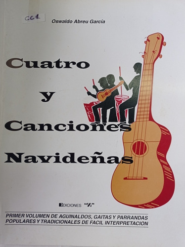 Cancionero De Cuatro. Canciones Navideñas Cc-1
