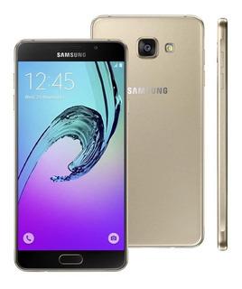 Samsung A7 16gb Duos A710m/ds Dourado Vitrine