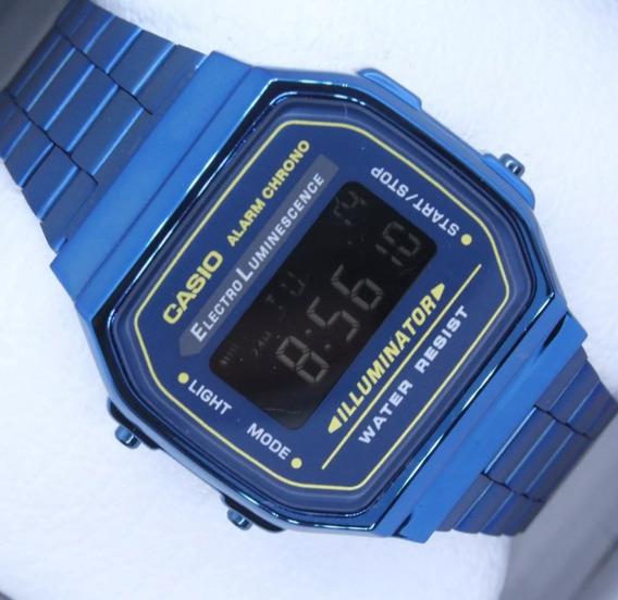 Reloj Casio A168 Azul Morado Vitage RetroProveedor